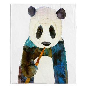 Decorative Fleece Throw Blankets | Marley Ungaro - Panda