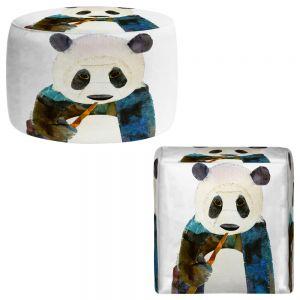 Round and Square Ottoman Foot Stools | Marley Ungaro - Panda