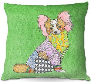 Decorative Outdoor Patio Pillow Cushion | Marley Ungaro - Papillon Green