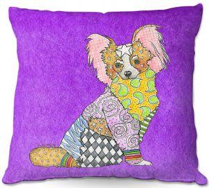 Decorative Outdoor Patio Pillow Cushion | Marley Ungaro - Papillon Purple