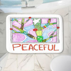 Decorative Bathroom Mats   Marley Ungaro - Peaceful Flowers   Floral Inspiration