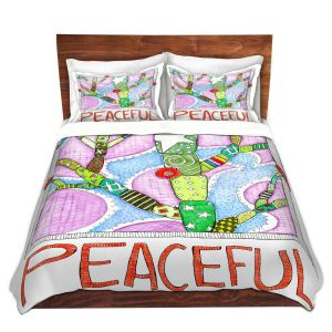 Artistic Duvet Covers and Shams Bedding   Marley Ungaro - Peaceful Flowers   Floral Inspiration