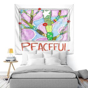 Artistic Wall Tapestry   Marley Ungaro - Peaceful Flowers   Floral Inspiration