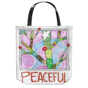 Unique Shoulder Bag Tote Bags | Marley Ungaro - Peaceful Flowers | Floral Inspiration