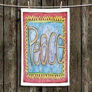 Unique Bathroom Towels   Marley Ungaro - Peace   Text typography words