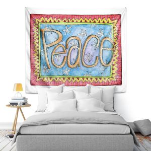 Artistic Wall Tapestry | Marley Ungaro - Peace | Text typography words