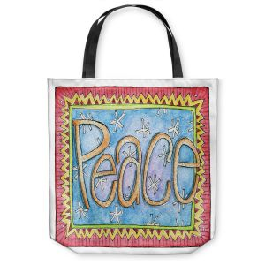 Unique Shoulder Bag Tote Bags | Marley Ungaro - Peace | Text typography words