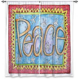 Decorative Window Treatments | Marley Ungaro - Peace | Text typography words