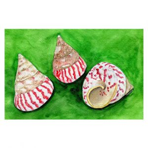 Decorative Floor Covering Mats | Marley Ungaro - Peppermint Trochus | Ocean seashell still life nature