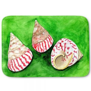 Decorative Bathroom Mats | Marley Ungaro - Peppermint Trochus | Ocean seashell still life nature