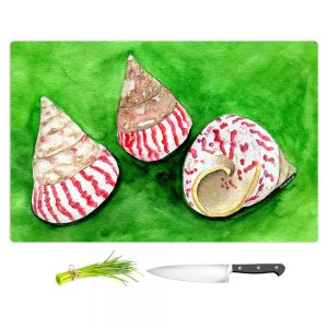 Artistic Kitchen Bar Cutting Boards   Marley Ungaro - Peppermint Trochus   Ocean seashell still life nature