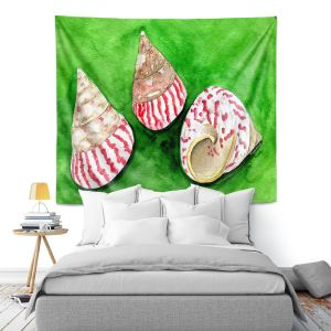Artistic Wall Tapestry | Marley Ungaro - Peppermint Trochus | Ocean seashell still life nature
