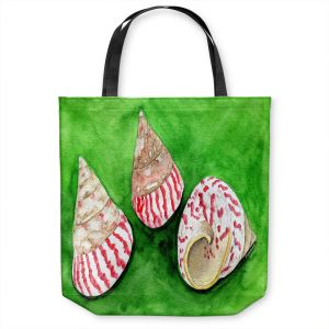 Unique Shoulder Bag Tote Bags | Marley Ungaro - Peppermint Trochus | Ocean seashell still life nature