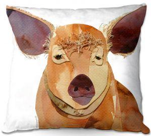 Throw Pillows Decorative Artistic   Marley Ungaro - Pig