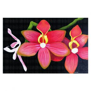 Decorative Floor Covering Mats   Marley Ungaro - Pink Hanging Orchid   Flower still life nature