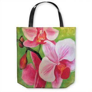 Unique Shoulder Bag Tote Bags   Marley Ungaro - Pink Moth Orchid   Flower still life nature