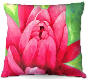 Throw Pillows Decorative Artistic | Marley Ungaro - Pink Waterlily | Flower still life nature