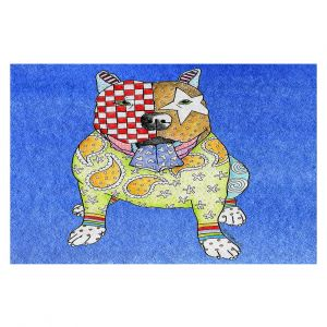 Decorative Floor Covering Mats | Marley Ungaro - Pitbull Blue | dog collage pattern quilt