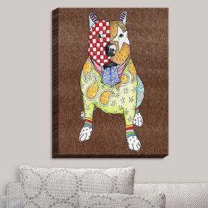 Decorative Canvas Wall Art   Marley Ungaro - Pitbull Dog Light Brown
