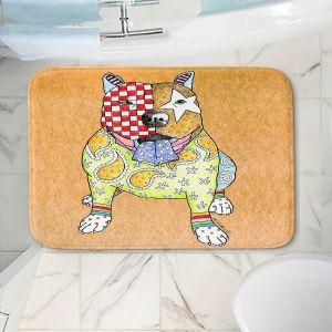 Decorative Bathroom Mats | Marley Ungaro - Pitbull Tan | dog collage pattern quilt