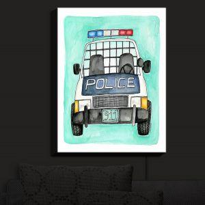 Nightlight Sconce Canvas Light | Marley Ungaro - Police Car | Law Enforcement