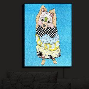 Nightlight Sconce Canvas Light | Marley Ungaro - Pomeranian Dog Aqua