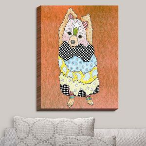 Decorative Canvas Wall Art   Marley Ungaro - Pomeranian Dog Camel