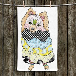 Unique Bathroom Towels | Marley Ungaro - Pomeranian Dog White