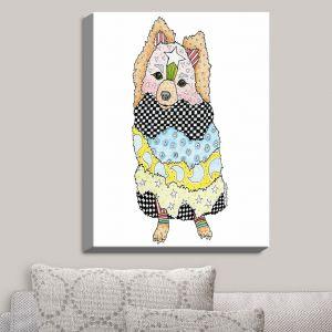 Decorative Canvas Wall Art   Marley Ungaro - Pomeranian Dog White