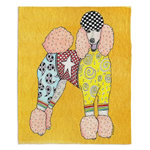 Decorative Fleece Throw Blankets   Marley Ungaro - Poodle Gold