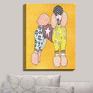 Decorative Canvas Wall Art   Marley Ungaro - Poodle Dog Gold