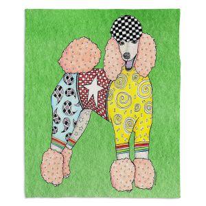Decorative Fleece Throw Blankets   Marley Ungaro - Poodle Green