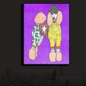 Nightlight Sconce Canvas Light | Marley Ungaro - Poodle Dog Purple