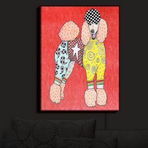 Nightlight Sconce Canvas Light | Marley Ungaro - Poodle Dog Watermelon