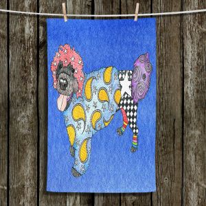 Unique Bathroom Towels | Marley Ungaro - Portuguese Water Dog Blue