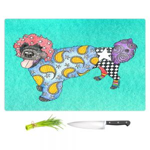 Artistic Kitchen Bar Cutting Boards | Marley Ungaro - Portuguese Water Dog Turquoise
