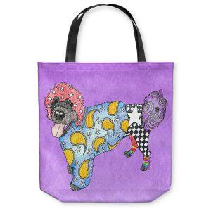 Unique Shoulder Bag Tote Bags |Marley Ungaro - Portuguese Water Dog Violet