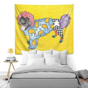 Artistic Wall Tapestry | Marley Ungaro - Portuguese Water Dog Yellow