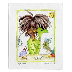 Decorative Fleece Throw Blankets | Marley Ungaro - Praying Mermaid