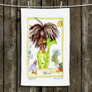 Unique Hanging Tea Towels | Marley Ungaro - Praying Mermaid | Cute Mermaid Artwork