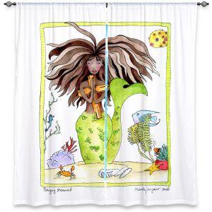 Decorative Window Treatments | Marley Ungaro Praying Mermaid