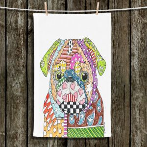 Unique Bathroom Towels | Marley Ungaro - Pug Dog White
