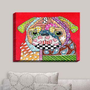Decorative Canvas Wall Art   Marley Ungaro - Pug Dog Red