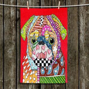 Unique Bathroom Towels | Marley Ungaro - Pug Dog Red