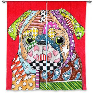 Decorative Window Treatments | Marley Ungaro Pug Dog Red
