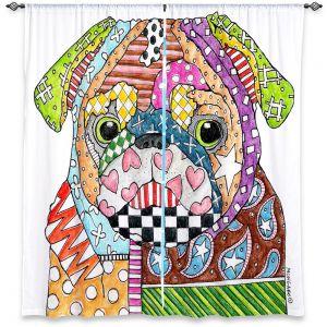Decorative Window Treatments | Marley Ungaro Pug Dog