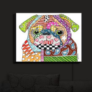 Nightlight Sconce Canvas Light | Marley Ungaro - Pug Dog White