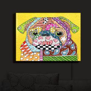 Nightlight Sconce Canvas Light | Marley Ungaro - Pug Dog Yellow