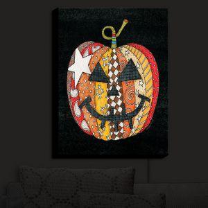 Nightlight Sconce Canvas Light | Marley Ungaro - Pumpkin Black