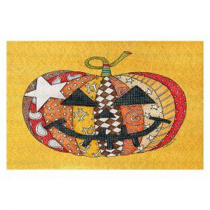 Decorative Floor Covering Mats   Marley Ungaro - Pumpkin Gold   Halloween spooky pattern abstract